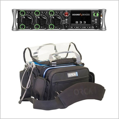 Sound Devices 833 Portable Mixer-Recorder W/ Orca OR-30