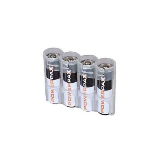 Powerpax Slimline 4-Pack AA Battery Caddy (Various Colours)