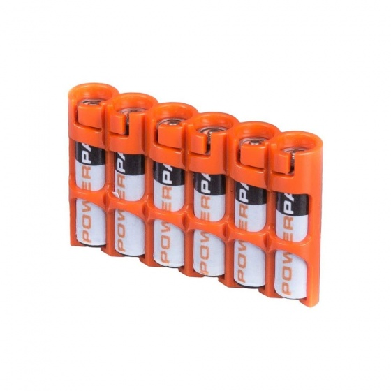 Powerpax 6-Pack AAA Battery Caddy (Various Colours)