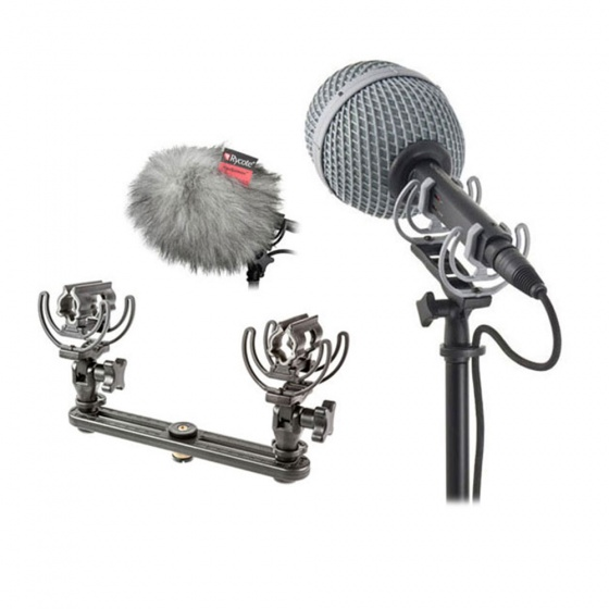 Rycote Baby Ball Gag Windshield x2 and Stereo Bar Bundle