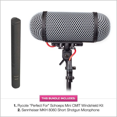 Rycote ''Perfect For'' Schoeps Mini CMIT Windshield Kit w/ Sennheiser MKH 8060 Microphone Bundle