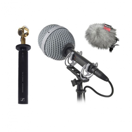 Sennheiser AMBEO VR with Rycote Baby Ball Gag (25mm) + Windjammer Bundle