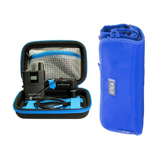 Sennheiser AVX-MKE2 Set w/Orca OR-65 Protective Case and FREE OR-19 Accessory Pouch Bundle