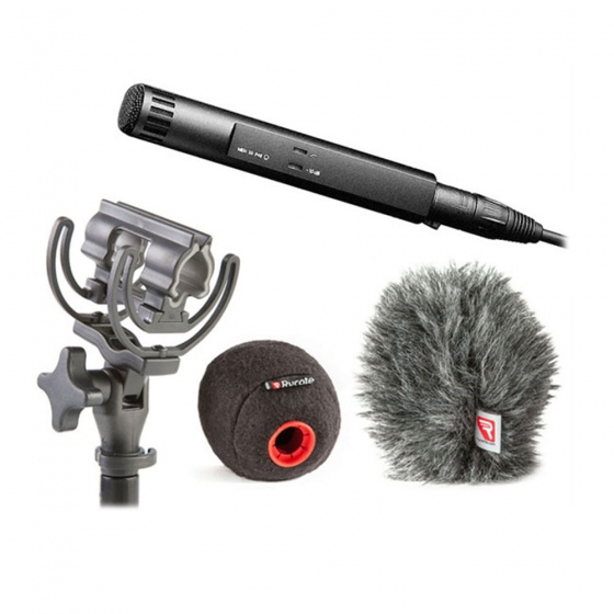 Sennheiser MKH 50 Microphone with Rycote Baseball & Suspension Bundle
