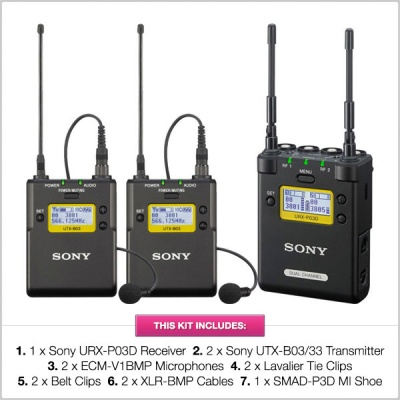 Sony Dual Channel UWP-D Dual Radio Mic Kit