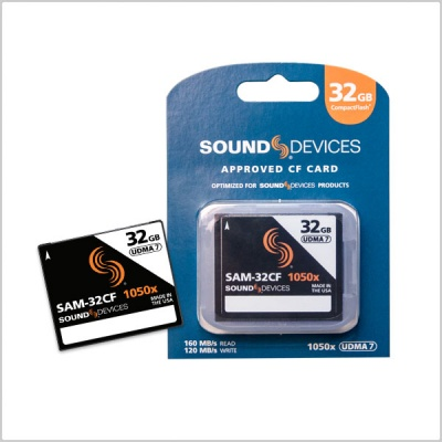 Sound Devices SAM-32CF Approved Media CF Card (32GB)