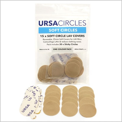 URSA Soft Circles Lavalier Microphone Covers (15 Pack)