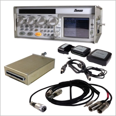 Pinknoise Bundle: Zaxcom DEVA V Recorder w/ Mixer Loom, CF Card Reader and Spare Solid State Drive - Used