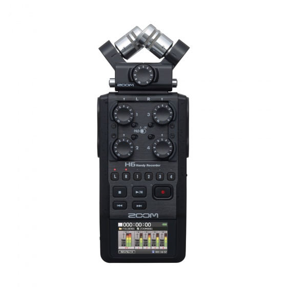 Zoom H6 Black 6-Track Portable Handheld Recorder