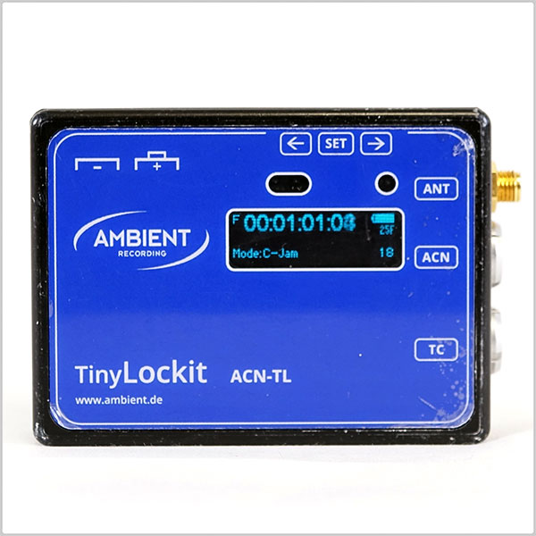 Ambient Recording ACN-TL Tiny Lockit Timecode Generator / Transceiver w/  ACN-TL-T Leather Pouch - Used