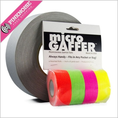 microGAFFER 4-Pack Compact Gaffer Tape (Various Colours)
