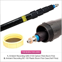 Ambient Recording QXS-5100 13ft 9in (420cm) Carbon Fibre Boom Pole with 1/2 Price BC-100
