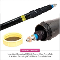 Ambient Recording QXS-565 8ft 6in (259.08cm) Carbon Fibre Boom Pole with 1/2 Price BC-65