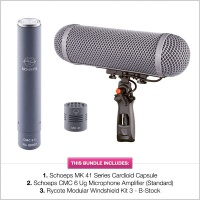 Schoeps CMC6+MK41 Supercardioid with B-Stock Rycote WS3 Modular Kit