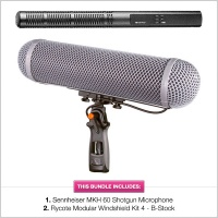 Sennheiser MKH-60 with B-Stock Rycote WS4 Modular Kit