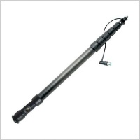 K-Tek K-87CCR Klassic 6 Section Graphite Boompole w/ Coiled Cable & Side-Mounted XLR Base 7' 3'' (221cm)