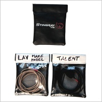 K-Tek KSLP1 Lav Pouch for Lavalier Microphones & Accessories (Set of 3)