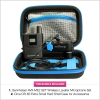 Pinknoise Bundle: Sennheiser AVX-ME2 Set w/ FREE Orca OR-65 Protective Case