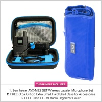 Pinknoise Bundle: Sennheiser AVX-MKE2 Set w/FREE Orca OR-65 Protective Case and OR-19 Accessory Pouch