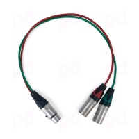 Pinknoise Custom 5-Pin XLR (Female) to Twin 3-Pin XLR (Male) Stereo Splitter Cable