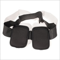 Pinknoise Double Waist Pouch for Radio Mic Transmitters (Black/White)