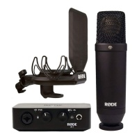 Rode AI-1 Kit - USB Interface, NT1 Microphone w/ Shockmount & Pop-Shield Bundle