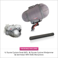 Rycote Cyclone Small (MZL), Windjammer & Sennheiser MKH 8060 Bundle