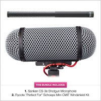 Sanken CS3e Shotgun Mic w/Rycote ''Perfect For 416'' Windshield Kit