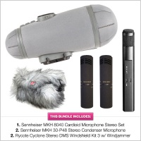 Sennheiser Double Mid-Side Bundle (MKH30 + 2x MKH8040 with Rycote Cyclone Windshield)