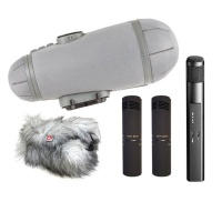 Sennheiser Double Mid-Side Bundle (MKH30 + 2x MKH8040 with Rycote Cyclone Windshield) Bundle