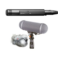 Sennheiser MKH 50 Microphone with Rycote Windshield Kit 2 Bundle