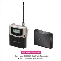 Sennheiser SK 9000 A5-A8 Digital Belt Pack Transmitter w/ B61 Battery Pack Bundle