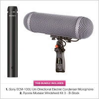 Sony ECM-100U Microphone with B-Stock Rycote WS 3 Modular Kit