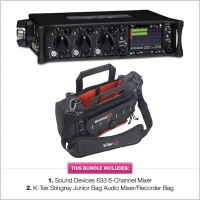 Sound Devices 633 Mixer Recorder & K-Tek Stingray Junior Bag Bundle