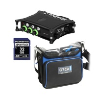 Sound Devices MixPre-3 II + Orca OR-270 Sound Bag w/ SD Card Bundle