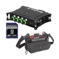 Sound Devices MixPre-6 II + K-TEK KSTGMIX Stingray Sound Bag w/ SD Card Bundle