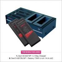 Swit SC302 Charger & 2 x Swit S-8073N NP-1 Battery Bundle