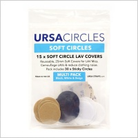 URSA Soft Circles Lavalier Microphone Covers w/ Stickies (Multi-Pack)