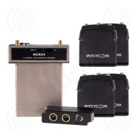 Wisycom MCR54 w/ 4 x MTP40S Transmitters & BPA54 Bottom Plate Quad Kit