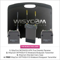 WisyCom Stand-Alone 2-Channel MCR42 Complete Kit w/ Pinknoise Cable Set