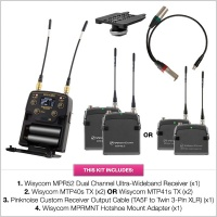 Wisycom MPR52 Dual Channel Ultra-Wideband Receiver Kit (w/ Options)