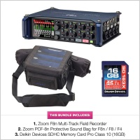 Zoom F8n Multi Track Field Recorder w/ PCF-8n Bag & Delkin SD Card