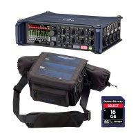 Zoom F8n Multi Track Field Recorder w/ PCF-8n Bag & Delkin SD Card Bundle