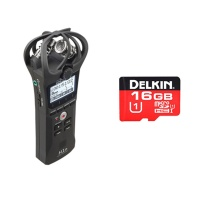 Zoom H1N Stereo X/Y Handheld Portable Recorder w/ FREE Delkin 16GB Micro SD
