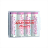 iPower AA Lithium-Polymer 2600mWh Rechargeable Batteries x4 inc Case
