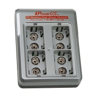 iPower 4-Bay 9V Battery Charger